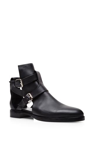 Medium pierre hardy black uomo open side buckled boot