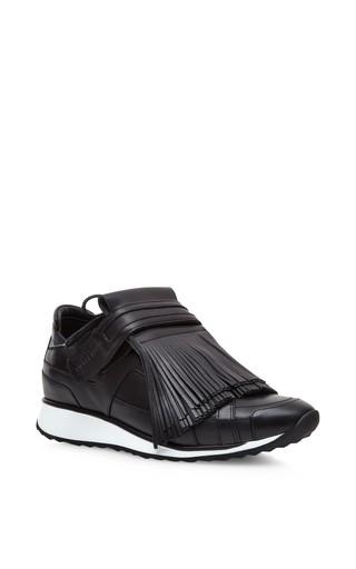 Medium pierre hardy black fringes sneakers