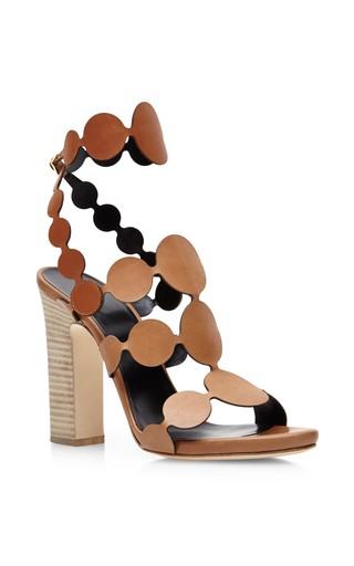 Medium pierre hardy brown open back pearls sandals