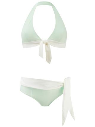 Medium lisa marie fernandez green alexa bikini in mint cream crepe