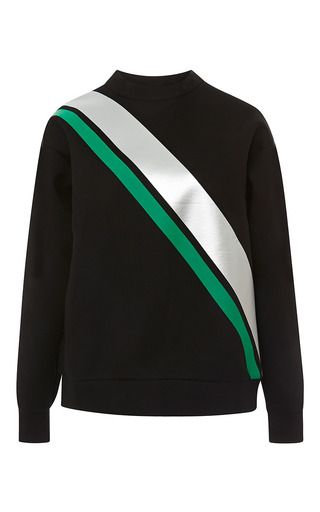 Medium etre cecile multi diagonal stripe tape boyfriend sweatshirt