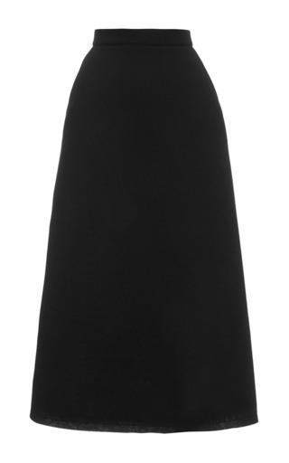 Medium etre cecile black midi a line skirt in black