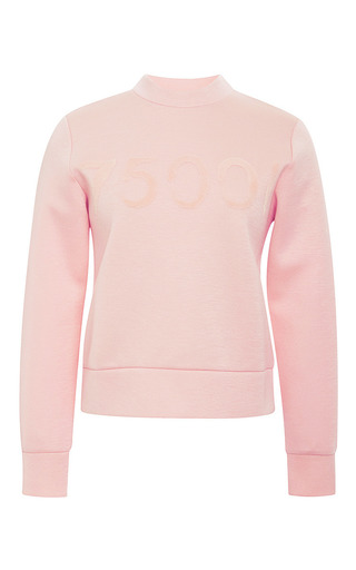 Medium etre cecile pink postcode flock slim fit sweatshirt