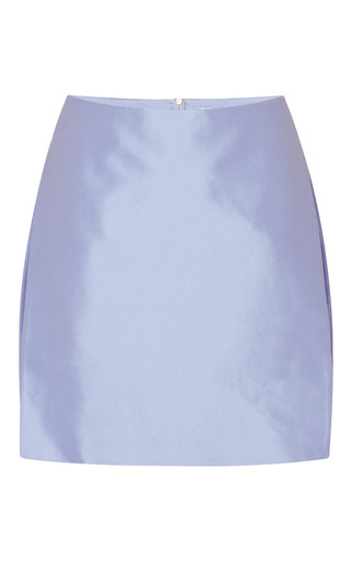 Medium dion lee purple paper silk skirt