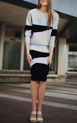 Light Wool Intarsia Needle Punch Print Skirt by SONIA BY SONIA RYKIEL Now Available on Moda Operandi