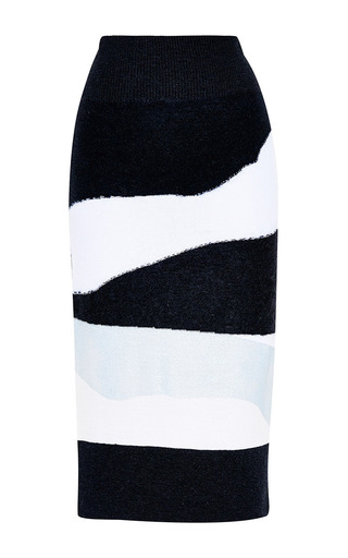 Light Wool Intarsia Needle Punch Print Skirt by SONIA BY SONIA RYKIEL Now Available on Moda Operandi