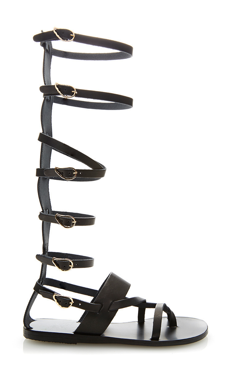 Alethea Tall Leather Gladiator Sandals By Ancient Moda