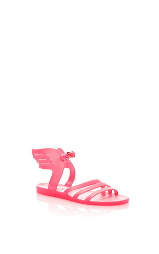 Medium ancient greek sandals pink rubber winged sandal in fuscia