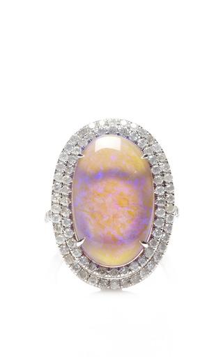 Medium nina runsdorf purple one of a kind violet lightning ridge opal ring