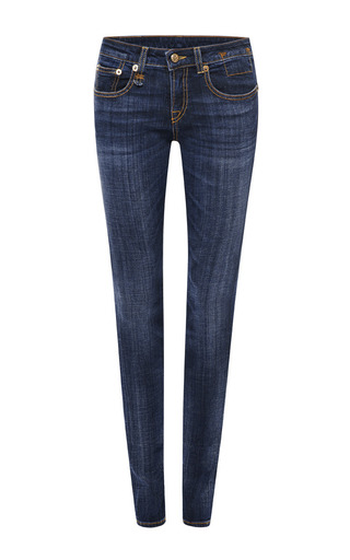 Medium r13 denim blue clean medium skinny