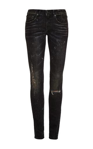 Medium r13 denim black black marble with ripped knees