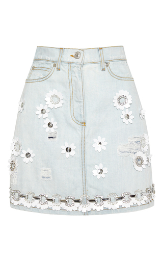 Medium msgm blue denim skirt