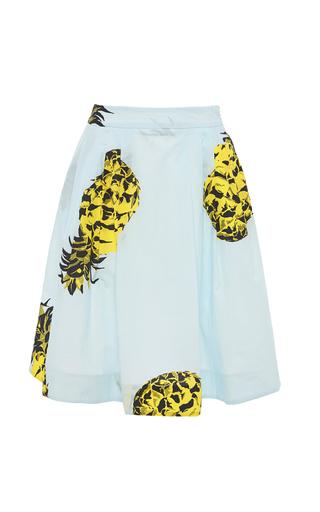 Medium msgm blue pineapple printed skirt