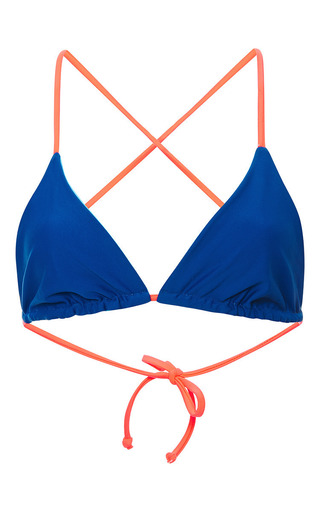 Medium basta surf multi raglan bathing suit top in blue and orange