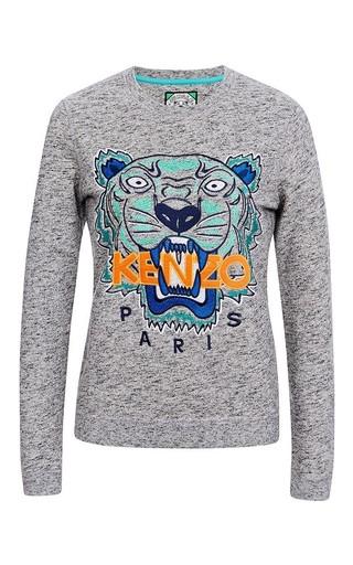Medium kenzo dark grey tonal tiger cotton molleton sweatshirt