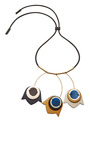 Gold Plated And Leather Necklace by MARNI Now Available on Moda Operandi