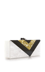 Flavia Vee Acrylic And Glitter Clutch by EDIE PARKER Now Available on Moda Operandi
