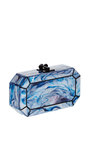 Fiona Faceted Acrylic Clutch by EDIE PARKER Now Available on Moda Operandi