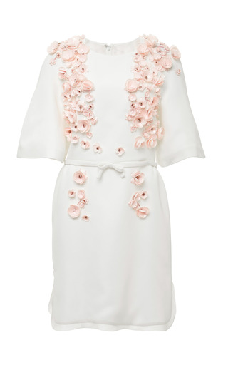 Medium giambattista valli multi viscose cady raglan dress with embroidery 2