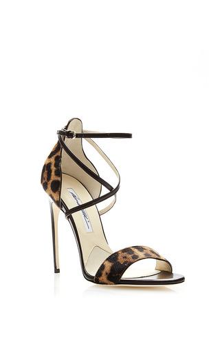 Medium brian atwood multi 110 mm heel pony leopard lux tamy sandal