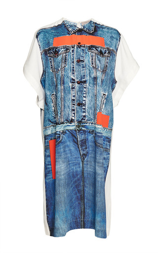 Medium preen line multi alba denim print dress