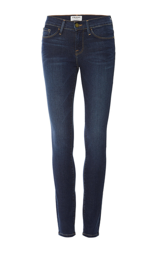 Medium frame denim blue le skinny de jeanne jean in columbia road