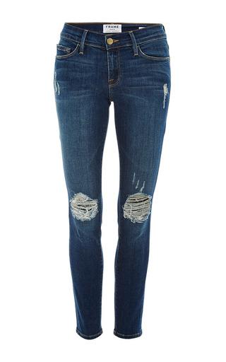 Medium frame denim blue le skinny de jeanne jean in walgrove