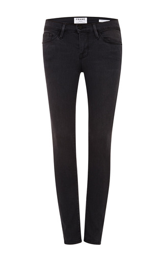 Medium frame denim black le skinny satine jean in st quintin