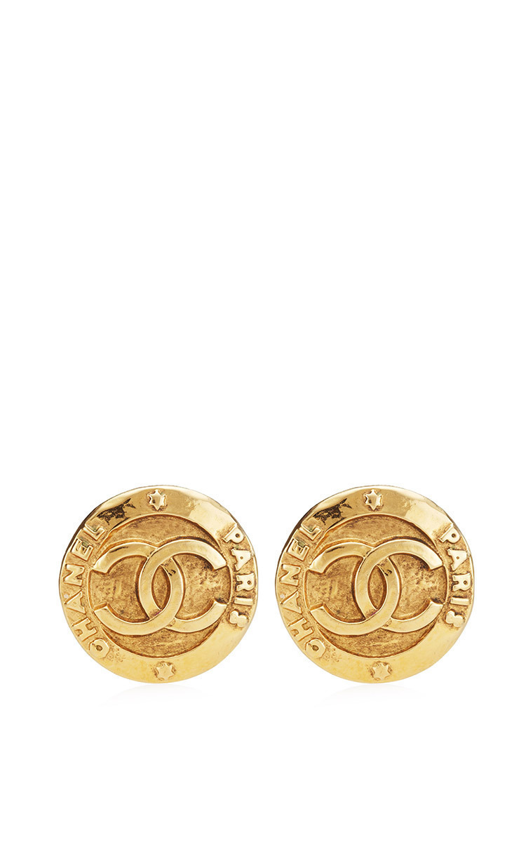 b8f64800bdde0 Vintage Chanel Large CC Clip Earrings From What Goes Around Comes Around