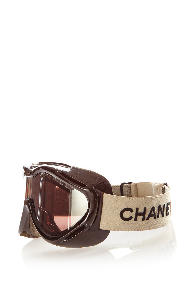 a32cb484ea58 What Goes Around Comes AroundVintage Chanel Black Ski Goggles From What  Goes Around Comes Around