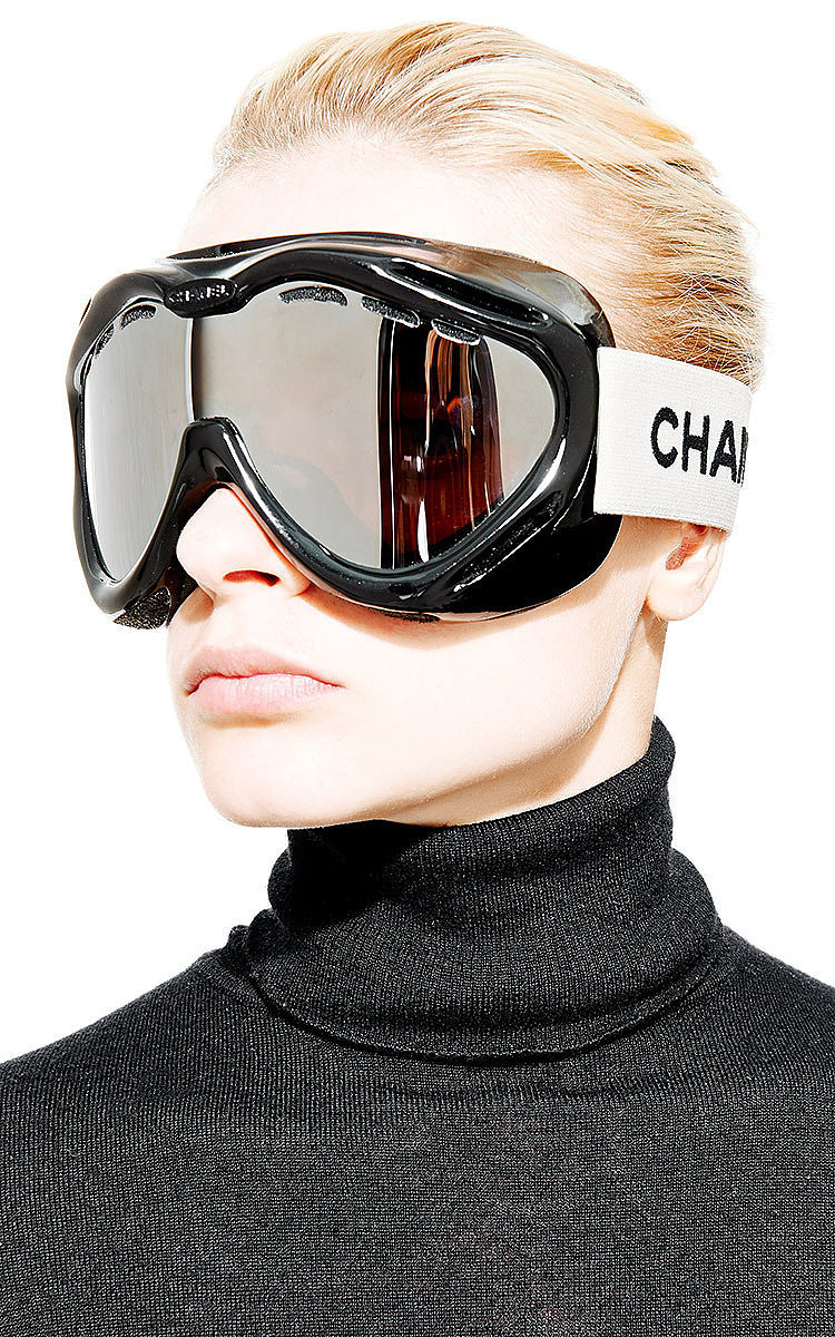 Vintage Chanel Black Ski Goggles From What Goes Around 65a5de33336a6