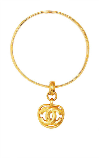 Vintage Chanel Gold Cc Charm Bracelet Set Of Three From What Goes Around Comes Around by WHAT GOES AROUND COMES AROUND for Preorder on Moda Operandi