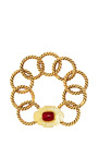 Vintage Chanel Red Gripoix Twist Loop Bracelet From What Goes Around Comes Around by WHAT GOES AROUND COMES AROUND for Preorder on Moda Operandi