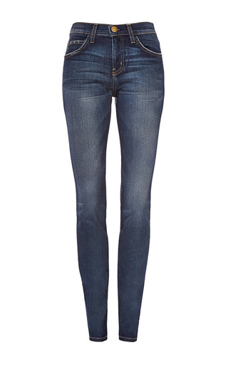 Medium current elliott blue the high waist skinny