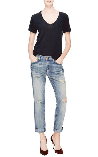 The V Neck Cotton T Shirt by CURRENT/ELLIOTT Now Available on Moda Operandi