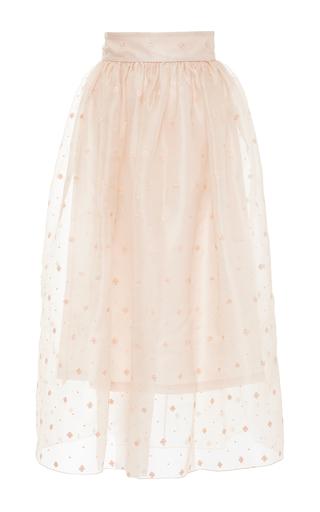 Medium vilshenko nude holly skirt embroidered silk organza