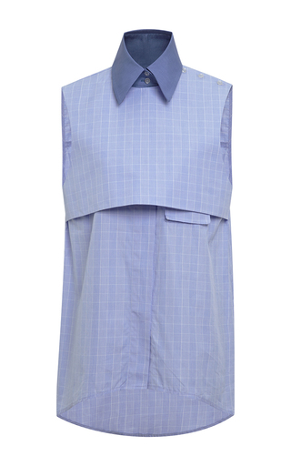 Medium ellery blue danube sleeveless top in blue