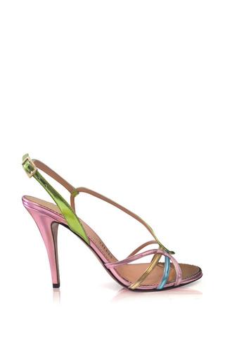 Blush Slingback Sandal In Metallic by PALTER DELISO for Preorder on Moda Operandi