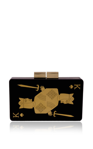 King Of Spades Clutch by URANIA GAZELLI for Preorder on Moda Operandi
