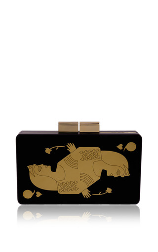 Queen Of Hearts Clutch by URANIA GAZELLI for Preorder on Moda Operandi