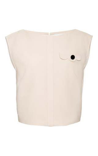Placket Detail Tank In Dusty Pink Spongy Cotton by OSMAN for Preorder on Moda Operandi
