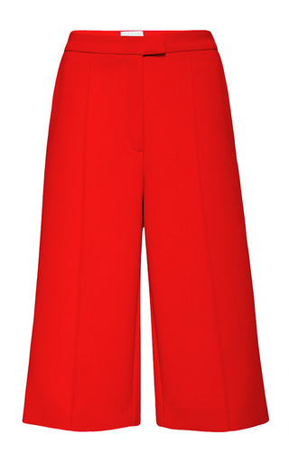 Medium osman red themis culotte in red spongy cotton