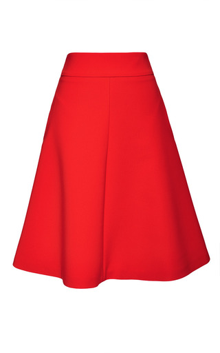 Medium osman red themis skirt in red spongy cotton