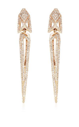 Medium maiyet gold poison dart earrings