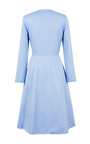 Sky Blue Princess Midi Coat by ESME VIE for Preorder on Moda Operandi