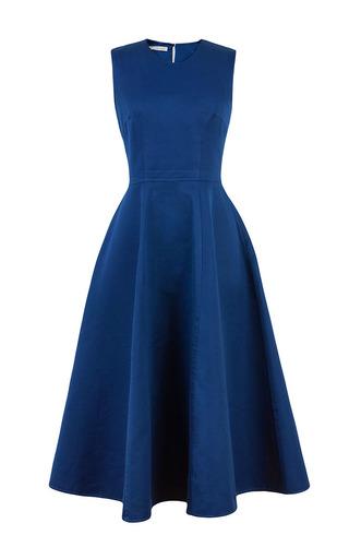 Marine Blue Full Skirt Maxi Dress by ESME VIE Now Available on Moda Operandi