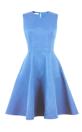 Medium esme vie blue sky blue full skirt midi dress