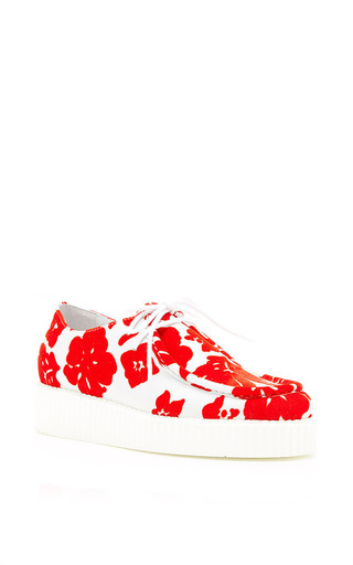 Medium joshua sanders red red lace up sneakers