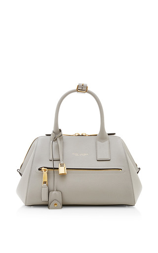 Medium marc jacobs dark grey textured small incognito bag with deep gold hardware in light grey 2