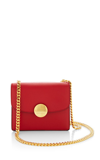 Medium marc jacobs red mini box calf trouble bag with deep gold hardware in red 4
